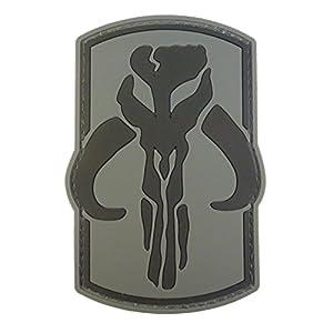 ACU Gray Star Wars Boba Fett Mandalorian Bounty Hunter PVC Gomme 3D Velcro Écusson Patch