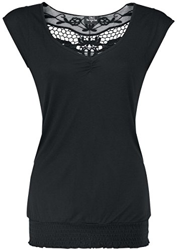 Fashion Victim Backlace Maglia donna nero M