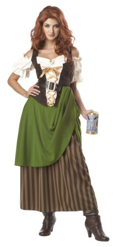 California Costumes Tavern Maiden Adult Costume Olive/Brown Medium  sc 1 st  Coolest Halloween Costumes : california costumes robin hood  - Germanpascual.Com