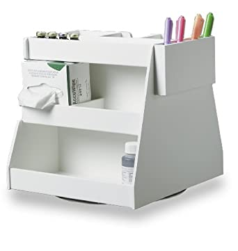 "TrippNT 50153 Rotating Multi-Compartment Workstation, 13.25"" Width x 13"" Height x 12.5"" Depth"