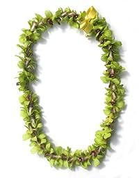 Hawaiian Lei - Fresh Single Strand Orchid Lei - Green