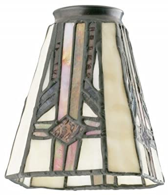 "Westinghouse 8112100 2-1/4"" Square Tiffany Lamp Shade"
