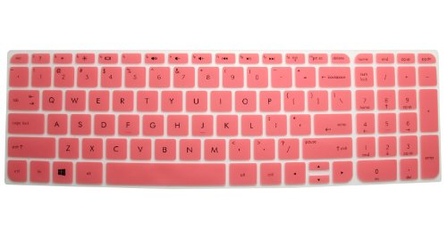 Semi-Pink High Quality Ultra Thin Soft Silicone Keyboard Protector Skin Cover For Hp Envy Touchsmart Sleekbook 15-E*** 15T-E*** 15Z-E*** 15Z-J*** 15-J*** 15Z-B*** 15-B*** 15-N*** 15-D*** 15-G*** M6-K*** M6-N*** 17-J*** 17T-J*** 17-E*** M7-J*** Series, Suc