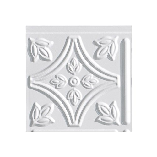 Fasade Easy Installation Traditional 1 Gloss White Backsplash Panel for Kitchen and Bathrooms (6