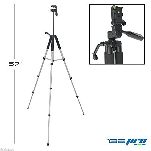 i3epro-bp-tr57-57-professional-tripod-with-3-way-panhead-tilt-motion-built-in-bubble-leveling-for-so
