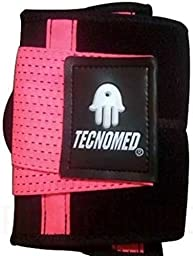 Tecnomed Best Adjustable Waist Cincher Workout Belt Burns Fat Faster Plus Instantly Slims Waist and Moves with You to Provide Critical Lower Back and Core Support for Lifting and Workouts PinkS