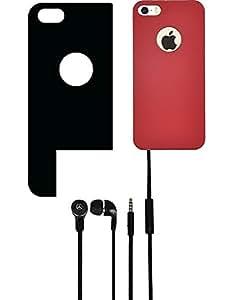 NIROSHA Cover Case Headphone for Apple iPhone 4s - Combo