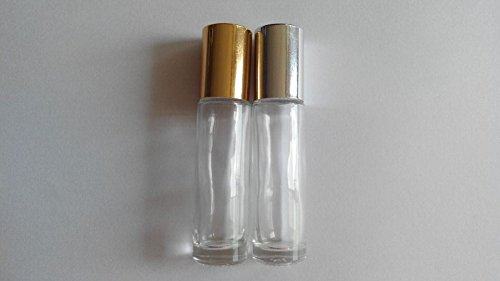 Sprite Science™18 Empty Glass 10ml Roll-on Perfume Bottles with Balls and Caps(gloden&silver Assorted)