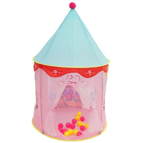 かわいい プリンセスのテント 子供用テント キッズテント♪室内用/室外用/おもちゃ おままごと/テントハウス/秘密基地/知育玩具 高さ約135cm★並行輸入品