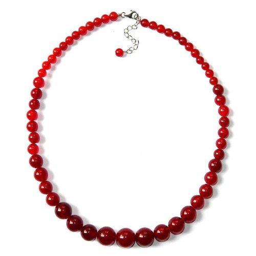 Sterling Silver Red Quartzite Graduation Journey Necklace