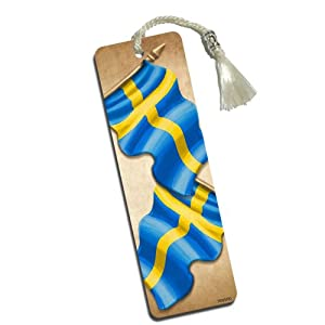Vintage swedish flag printed bookmark with for Amazon sweden office