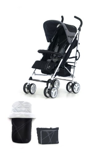 Petite Star Zukoo Stroller Including Footmuff and Change Bag (Raven)