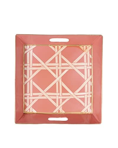 Jayes Cane Square Tray, Pink