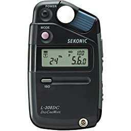 Sekonic L-308DC DigiCineMate Photographic Lightmeter with a soft case (Black)