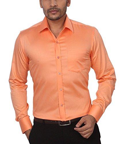 GlobalRang-Mens-Cotton-Orange-Formal-Shirt