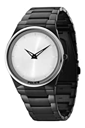 Police Mens Watch Horizon with Black IP Bracelet and Silver Dial