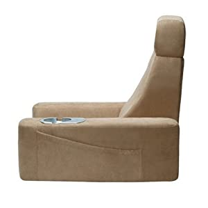 HoMedics BRF-1 Massaging Back Rest with Cup Holder and Integrated Headrest