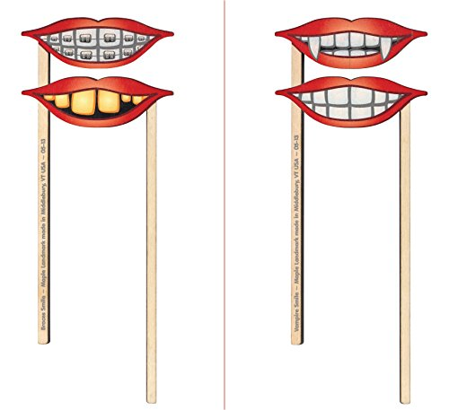 Silly Sticks 2 Pk Smiles - Made in USA