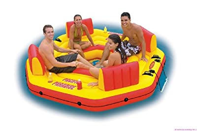 Pool Lounge Badeinsel Boot Pacific Paradise 254 X 254 X 61 Cm von Intex