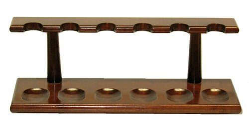 Classic Cherry 6 Tobacco Pipe Rack Stand