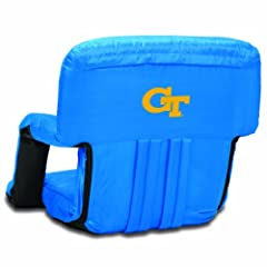 NCAA Georgia Tech Yellow Jackets Ventura Portable Reclining Seat, Blue by Picnic Time