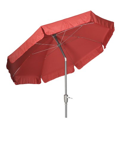 Acamp Parasol with Valance 2.2m - Anthracite/Cranberry Pole