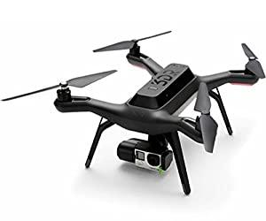 3D Robotics Solo Aerial Drone with Axis Gimbal, Smart Battery and Set of 2 Black Propellers