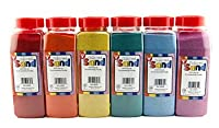 Colored Sand 6 Bright Colors 6 oz. each from Hygloss
