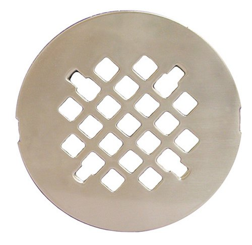 "Plumbest D40-010 4 1/4"" Snap-in Replacement Shower Drain Strainer, Satin Nickel"
