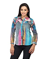 lol Multi Color Floral Print Casual Top for women