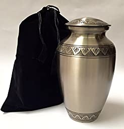 New World Accents Adult Exquisite Funeral Cremation Urn w/Velvet Bag