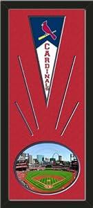St. Louis Cardinals Wool Felt Mini Pennant & Busch Stadium 2012 Photo - Framed... by Art and More, Davenport, IA