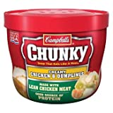 Campbell's Chunky Creamy Chicken & Dumplings Microwavable Soup 15.25 oz by Campbell's