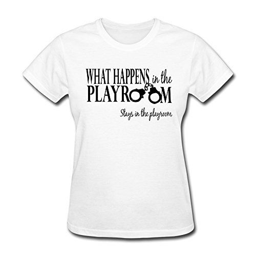Design 100% Cotton Ladies What Happens Playrooms Shirt