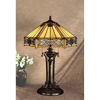 Perfect tiffany style stained glass table lamps for living for Living room end table lamps