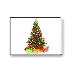 Christmas tree canvas wall art print 16 x 12 for Christmas wall art amazon