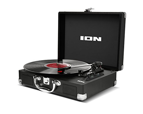 ION Audio Vinyl Motion Air Portable Briefcase Style Bluetooth Streaming Belt Drive Turntable