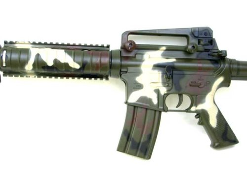 Camoflague Limited Edition M16 M4 Airsoft Rifle Electric Gun