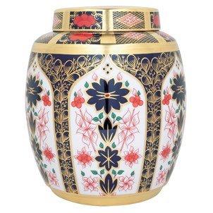 Royal Crown Derby Old Imari Solid Gold Band Sgb Large Ginger Jar