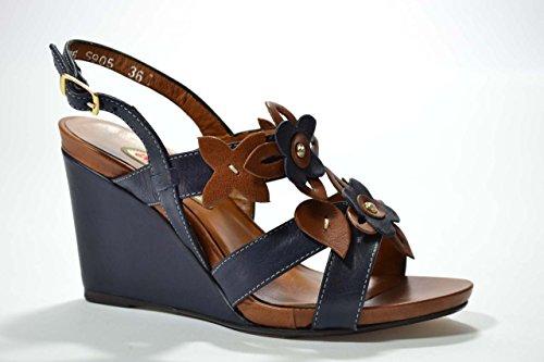 Melluso Sandali zeppa blu scarpe donna S905 40