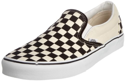 Vans U CLASSIC SLIP-ON Sneaker, Unisex Adulto, Bianco (Black/White/Checker White), 38.5