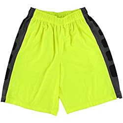 Nike Boys Elite Striped Shorts (X-Large, VOLT//ANTHRACITE/ANTHRACITE)