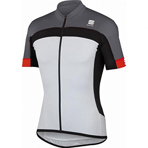 SPORTFUL MAGLIA BIKE M/M PISTA LONGZIP (M, WHITE/GREY/RED)