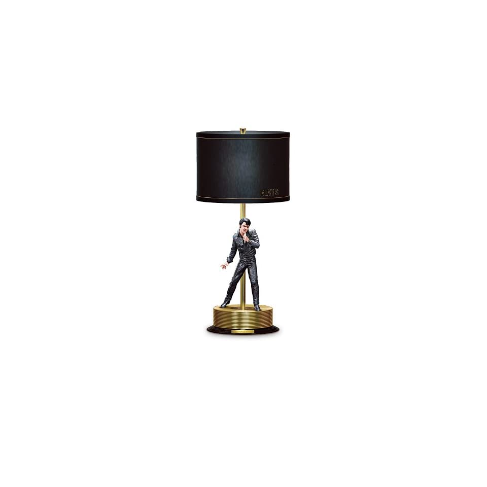 Elvis Presley 68 Comeback Special Collectible Tabletop Lamp by The Bradford Editions