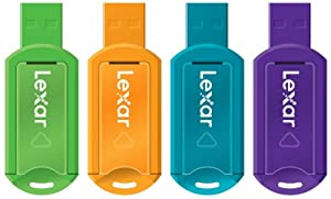 Lexar JumpDrive V20 8GB USB Flash Drive LJDV20-8GBASBNA4 - 4 Pack