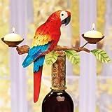 Decobreeze Home Holiday Decoration Capiz Shell Candelabra Bottle Topper-Parrot