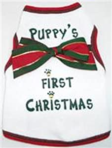 Tank -Puppy's First Christmas - White- X Small