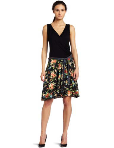 Karen Kane Women's Ditsy Print Wrap Dress