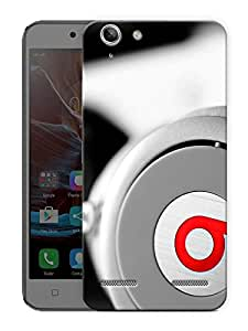 "Beats Headphones Love Printed Designer Mobile Back Cover For ""Lenovo Vibe K5 - K5 Plus"" By Humor Gang (3D, Matte Finish, Premium Quality, Protective Snap On Slim Hard Phone Case, Multi Color)"