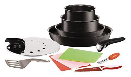 Tefal l3208312 ingenio 5 batterie 3168430217805 cuisine - Tefal ingenio5 set 10 pieces noir ...